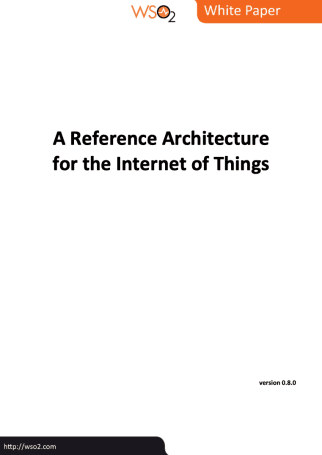 Whitepaper - A Reference Architecture for the Internet of Things - Cover