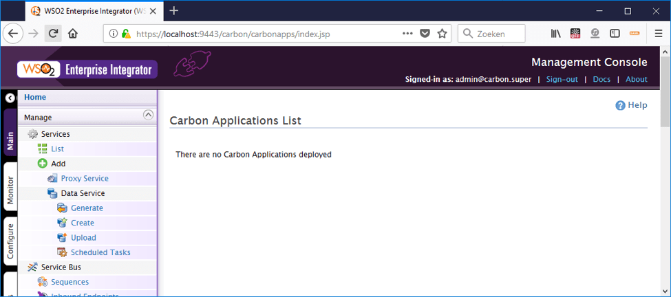 8 ways to deploy a car file to wso2 - carbon application list