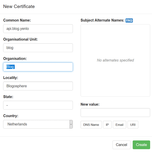 New Certificate API blog