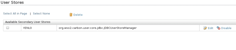 User Stores - carbon user core