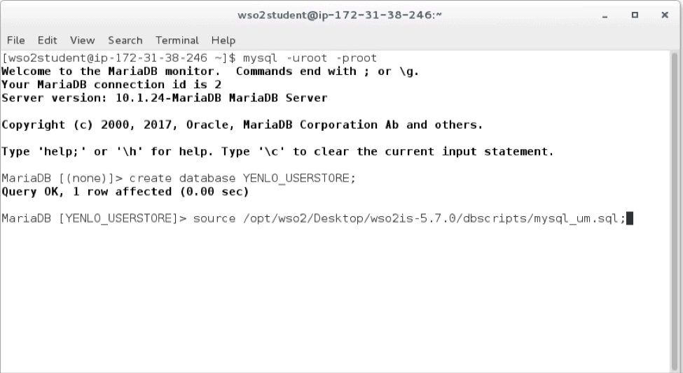 WSO2 IS 5.7.0 - [IS-HOME]dbscriptsmysql_um.sql