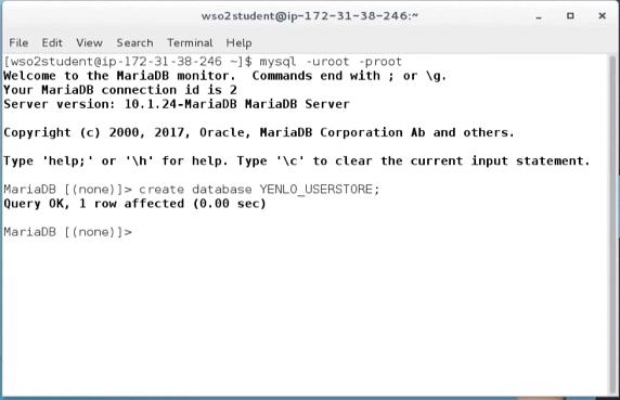 WSO2 IS 5.7.0 - mysql -u root -proot