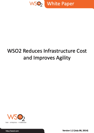 Whitepaper WSO2 Reduces Infra Cost and Improves Agility